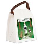 Ostrich Jackal Sermon Canvas Lunch Bag