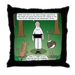 Ostrich Jackal Sermon Throw Pillow