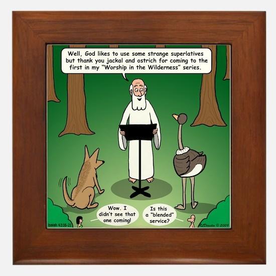 Ostrich Jackal Sermon Framed Tile