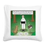 Ostrich Jackal Sermon Square Canvas Pillow