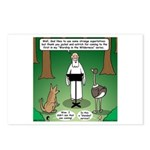 Ostrich Jackal Sermon Postcards (Package of 8)