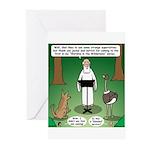Ostrich Jackal Sermon Greeting Cards (Pk of 10)