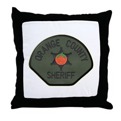 Orange County Sheriff SWAT Throw Pillow