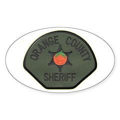 Orange County Sheriff SWAT Sticker (Oval 50 pk)
