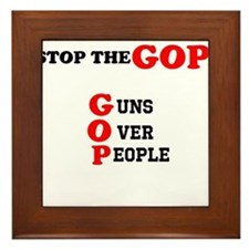 STOP THE GOP Framed Tile