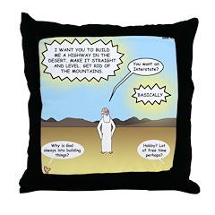 God's Interstate Highway Throw Pillow