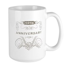 10th Vintage Anniversary Ceramic Mugs