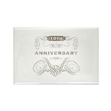 10th Vintage Anniversary Rectangle Magnet