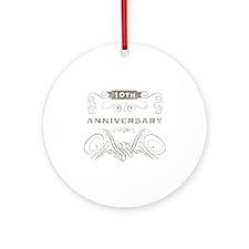 10th Vintage Anniversary Ornament (Round)
