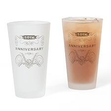 10th Vintage Anniversary Drinking Glass