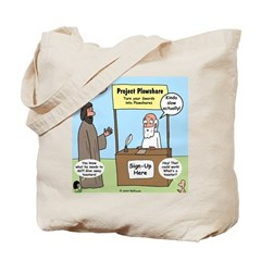 Plowshare Booth Tote Bag