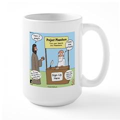 Plowshare Booth Large Mug