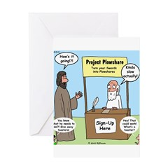 Plowshare Booth Greeting Card