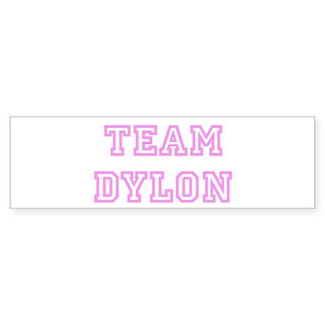 Pink team Dylon Bumper Sticker