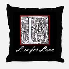 The L Word/black Throw Pillow