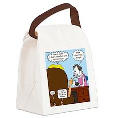 God Memo Canvas Lunch Bag