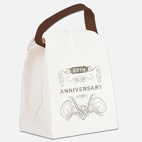 20th Vintage Anniversary Canvas Lunch Bag