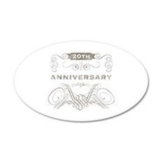 20th Vintage Anniversary Wall Decal