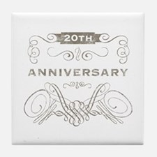 20th Vintage Anniversary Tile Coaster