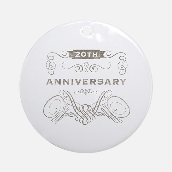 20th Vintage Anniversary Ornament (Round)