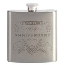 25th Vintage Anniversary Flask