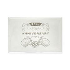 25th Vintage Anniversary Rectangle Magnet