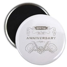 """25th Vintage Anniversary 2.25"""" Magnet (10 pack)"""