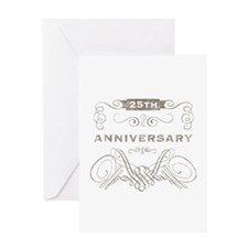 25th Vintage Anniversary Greeting Card