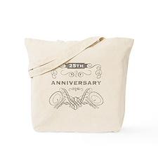 25th Vintage Anniversary Tote Bag