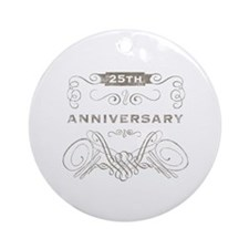 25th Vintage Anniversary Ornament (Round)