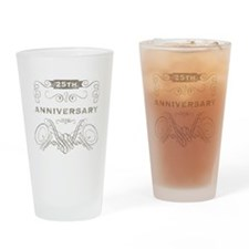 25th Vintage Anniversary Drinking Glass