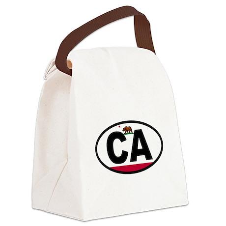 California Flag Canvas Lunch Bag