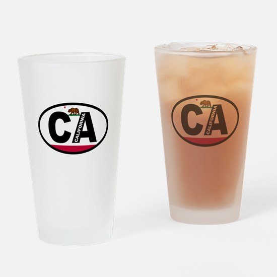 California Flag Drinking Glass