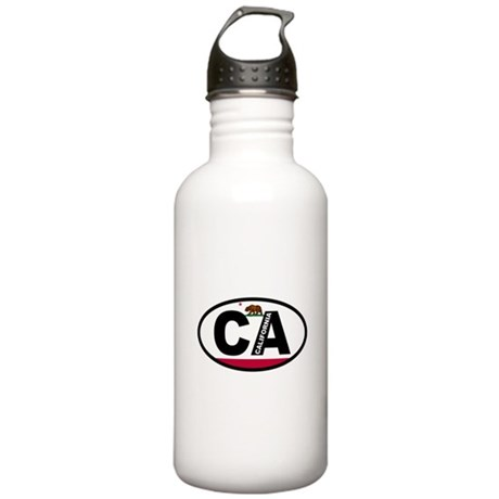 California Flag Stainless Water Bottle 1.0L
