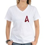 A is For Ribbon Women's V-Neck T-Shirt