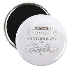 40th Vintage Anniversary Magnet
