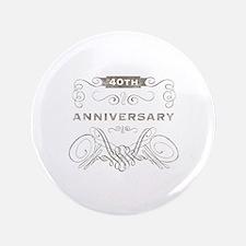 "40th Vintage Anniversary 3.5"" Button"