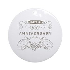 40th Vintage Anniversary Ornament (Round)