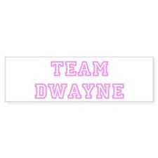 Pink team Dwayne Bumper Bumper Sticker
