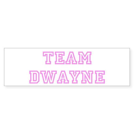 Pink team Dwayne Bumper Sticker