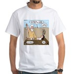Abraham and Isaac Camping White T-Shirt
