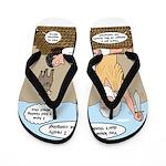 Abraham and Isaac Camping Flip Flops