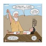 Abraham and Isaac Camping Tile Coaster