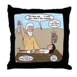 Abraham and Isaac Camping Throw Pillow