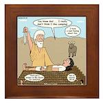 Abraham and Isaac Camping Framed Tile