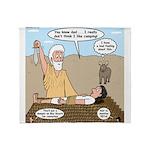 Abraham and Isaac Camping Throw Blanket