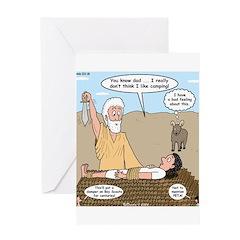 Abraham and Isaac Camping Greeting Card