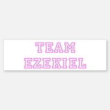 Pink team Ezekiel Bumper Bumper Bumper Sticker