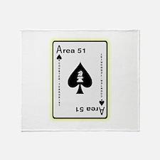 Area 51 Counter Terrorist Throw Blanket