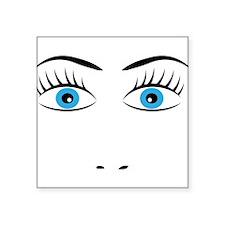 """face Square Sticker 3"""" x 3"""""""